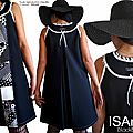 MOD-472B-robe noir & blanc graphique chic élégante trapèze made in France originale habillée printemps 2017 ISAmade