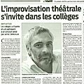 article impro collège