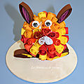 lapin quilling
