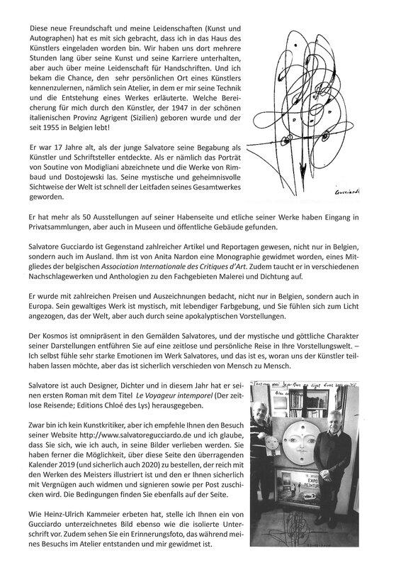 Magazine allemand, Autographen sammler, (Collectionneur d'Autographes) article sur S