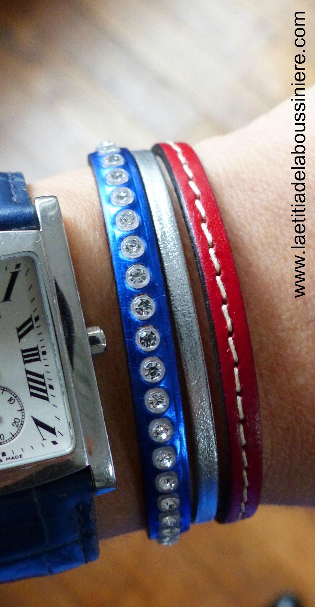 Bracelet cuir Manchette 1113