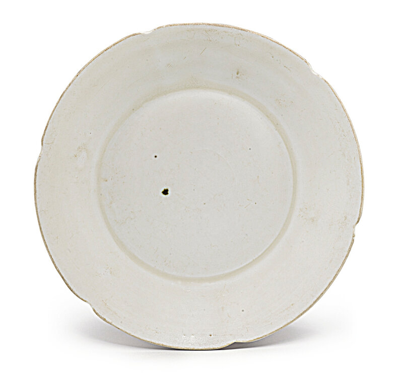 A Dingyao lobed dish, Song dynasty (960-1279)