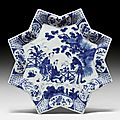 Two bowls with chinoiserie decoration from a rijsttafel, delft, de griekse a, early 18th century