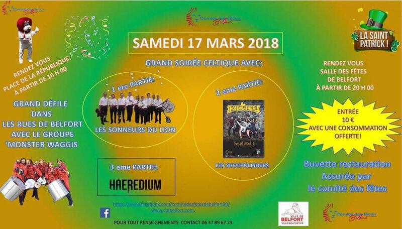 Affiche Belfort Saint Patrick 2018