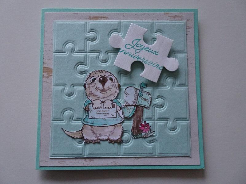 24b Carte Puzzle embossé en préparation