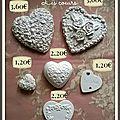 Les coeurs = prix