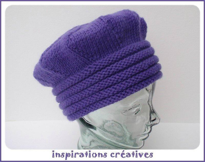 Chapeau d hiver adulte au tricot - Inspirations Créatives 544fe9ec834