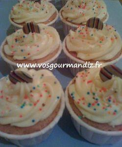Cupcakes citron-framboise Vos Gourmandiz