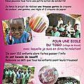 Un geste pour les écoliers togolais.....