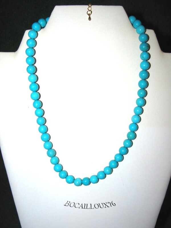 Collier Perles HOWLITE Turquoise 1 (2)