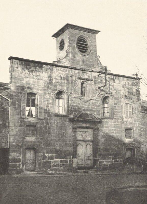 chapelle des Pénitents, façade