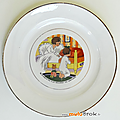 Collection ... assiette plate scene d'enfant * bicot