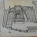 Flavigny sur Ozerain - Abbaye St Pierre en 1690 - datée 1985