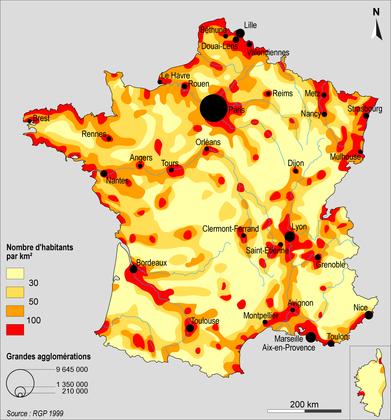 France densité