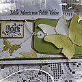Carte offerte par ma Petite Valou pour mon Anni * 2012