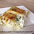 Cannellonis au poulet et fromage blanc