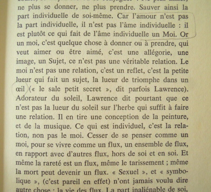 yeux amour DH Lawrence