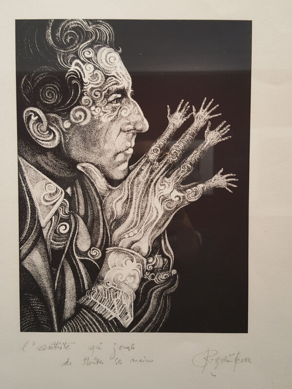 Jean cocteau caricature grunberg roland illustrateur nancy