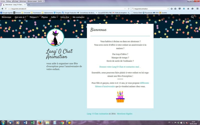 photo site Lang'o chat Animation