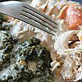 Blanc de dinde aux carottes et à la crème.