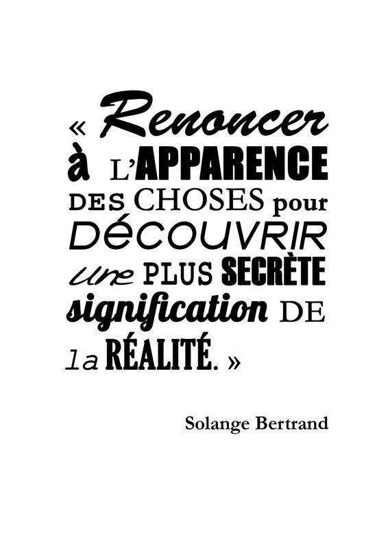 Citation Solange Bertrand