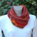 Snood et mitaines au crochet