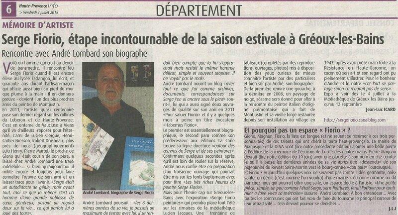 Article Haute-Provence info