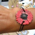 Bracelet coquelicot 22,00 euros