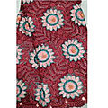 Dentelle guipure - rouge - 5 yards