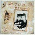 Amour maternel - scrap vintage
