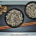 Rillettes de cabillaud au tartare d'algues, chips de courgette