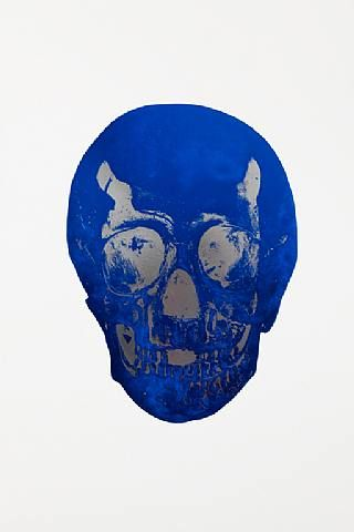 Damien Hirst, The Dead Westminster Blue Silver Gloss Skull , 2009