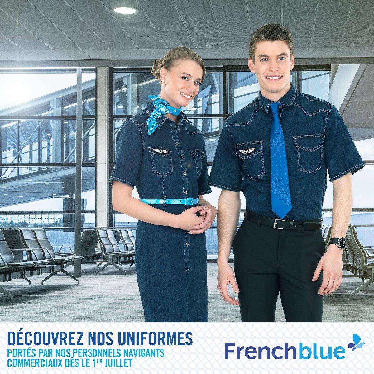 French Blue Choisit Le Blue Jean Pour Ses Hotesses Et Stewards