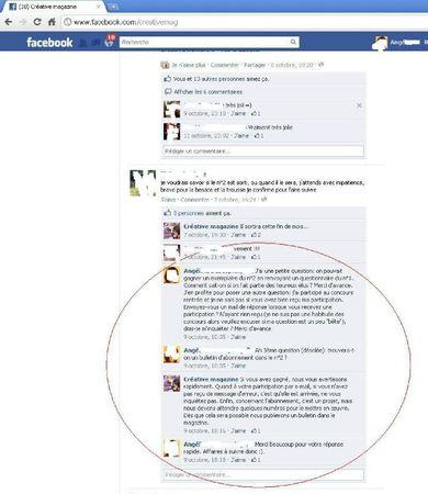 Echanges Facebook article blog