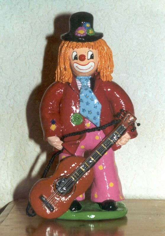 le clown guitariste