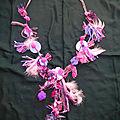 collier rose chiffonette de yurtao