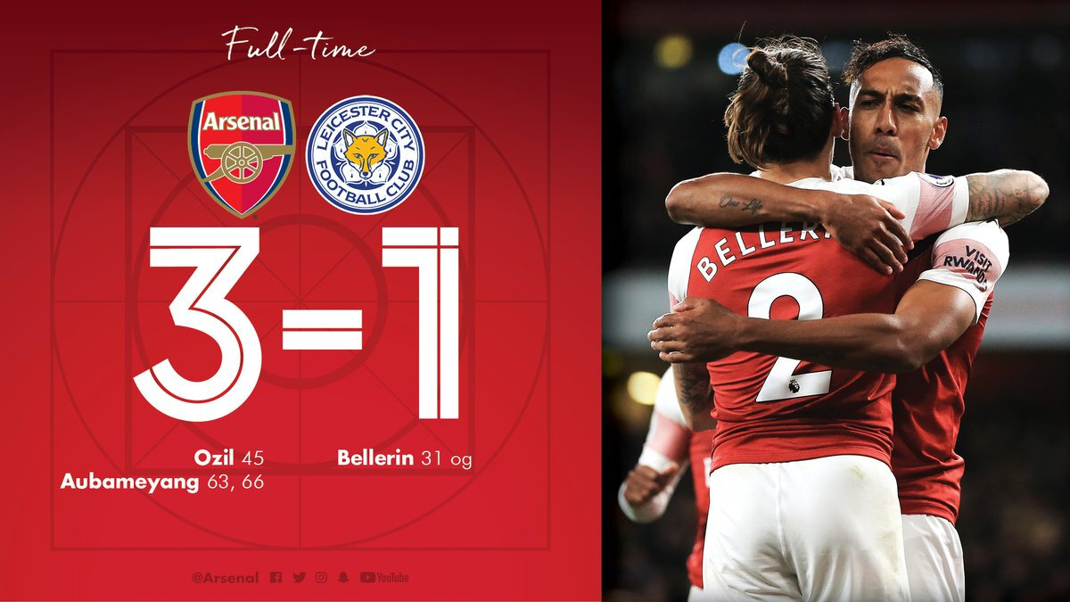 Arsenal 3-1 Leicester City !