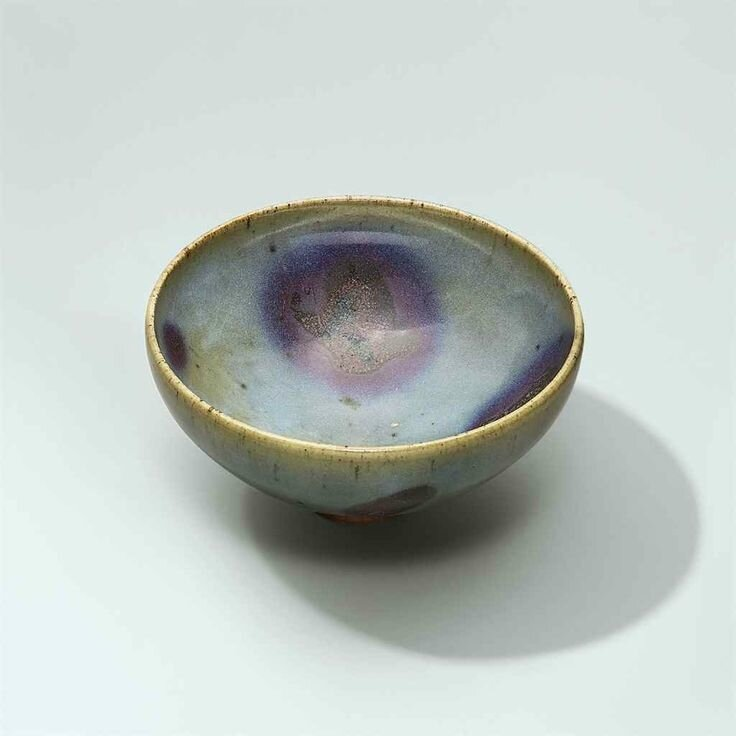 A large purple-splashed Jun bowl, Yuan dynasty (1279-1368)