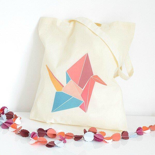 Tote bag origami