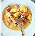 Pommes de terre et knacki au cheddar à ma façon (cookeo)