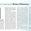 Simon allonneau : «la vie est trop vraie »