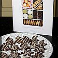 P'tits sablés cacao et décor chocolat blanc