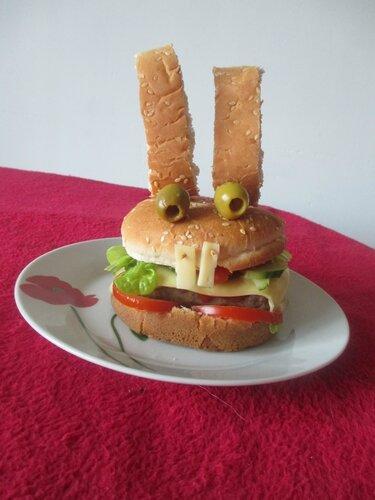 Rabbit burger aux crudit s une souris dans ma cuisine for Une souris dans ma cuisine