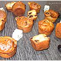 Muffins fourme d'ambert et cranberries