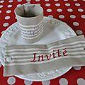 Rd serviette Invité