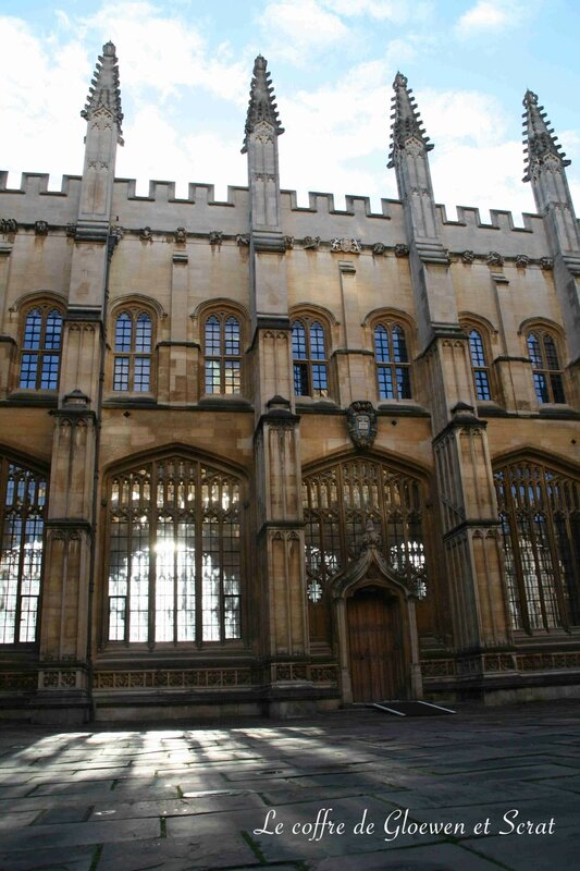 Vue extérieure de la Bodleian Library à Oxford (UK)