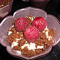 Coupe framboise crumble de speculoos