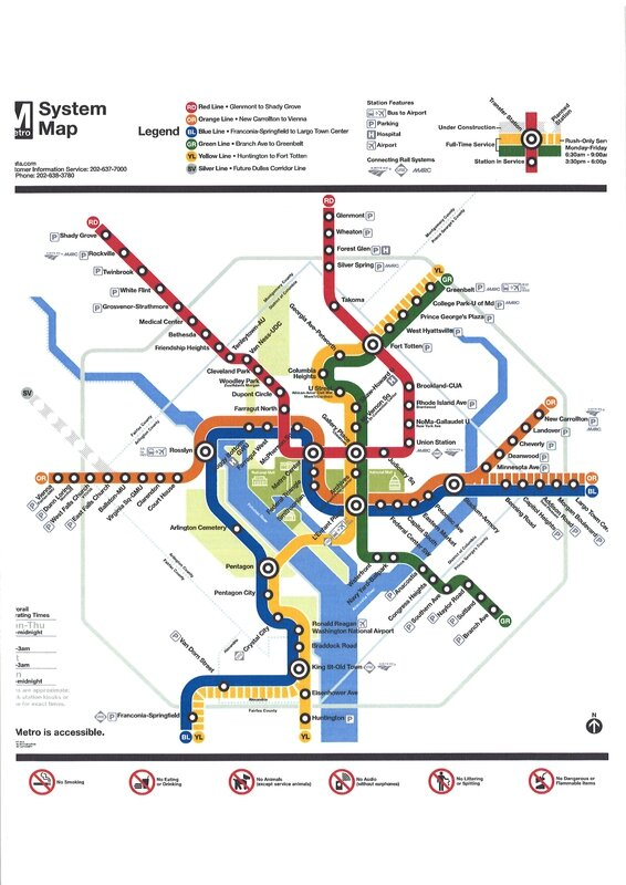 Washington Metro Map