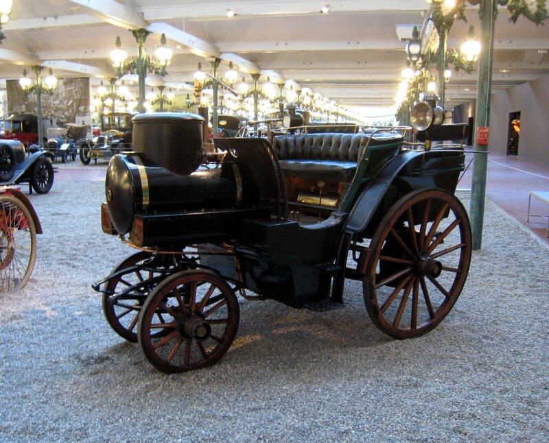 Jacquot tonneau a vapeur de 1878 (Cité de l'Automobile Collection Schlumpf à Mulhouse) 01