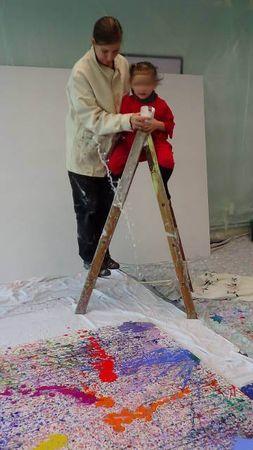 taches jet peinture